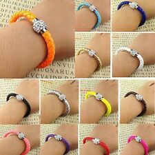 Unbranded Rhinestone Leather Alloy Fashion Bracelets