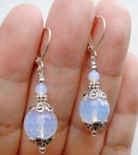 Beautiful Handmade Natural Sri Lanka Moonstone Gemstone Dangle/Drop Earrings
