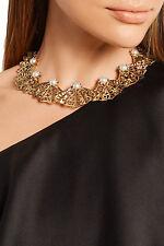 Oscar de la renta Distintivo Collar Chapado en Oro RRP595GBP En Caja, Gran Regalo