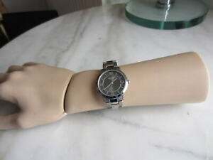 REGENT Damen-Uhr Titan-Edelstahl Glieder-Armband Falt-Schließe TOP neue Batterie