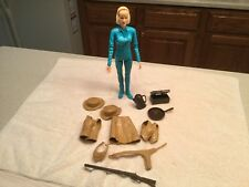 Vintage Louis Marx  Action Figure Jane West  Blue  W/ Accessories