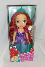 "Disney Princess Toddler Ariel Doll NIB 14"" Red Hair, Multi Color Dress Poses 3+"