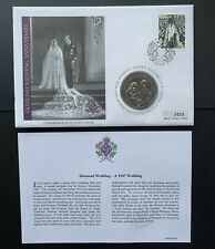 Cook Islands, 2007 Diamond Wedding Anniversary One Dollar Unc. Coin Cover
