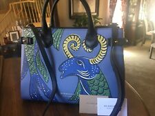 Burberry Medium Banner Beasts Blue Green Check Shoulder bag Purse