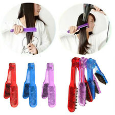 New Salon Style Hairdressing Bristle Hair Straightening Brush V Shape Comb