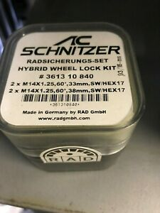 AC Schnitzer BMW RAD Locking Wheel Bolt set 4 of M14x1.25 361310840