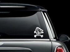 Navy Chief Skull and Crossbones Vinyl Car Window Decal Bumper Sticker US Seller