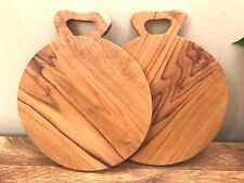 Natural Wood Chopping Board Cheese Platter Bread Boards Rustic Worktop Bar Drink