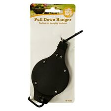Hanging Basket Pull Down Hanger Retractable Pulley Garden Baskets Plant Pots UK