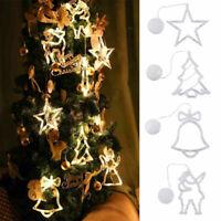 Christmas Tree Curtain Window Hanging Fairy Lights String Xmas Indoor Decor NEW