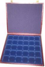 Muenzkassette:2001/30:275x230x25 mm für 30 Münzen.Fachaufteilung 35  x 35 mm