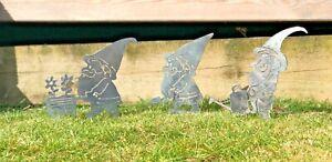 Garden Gnomes Metal Sign Wall Art CNC Decor Metal Gnome Family 20% Off