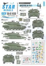 Star Decals 1/35 MERKAVA 4 Israeli Tank Lahav & Rhino Companies