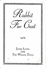 JENNY LEWIS & THE WATSON TWINS Rabbit Fur Coat 2006 UK promo only lyric booklet