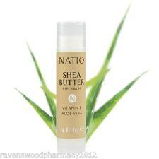 3 x Natio Shea Butter Lip Balm with Vitamin E & Aloe Vera 4g