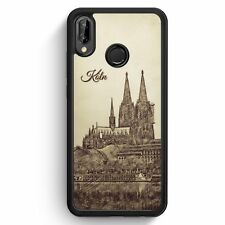 Huawei p20 Lite SILICONE HOUSSE VINTAGE Panorama Cologne Cologne DOM motif design Sky