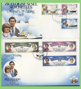 Zil Eloigne Sesel Seychelles 1981 Royal Wedding 2 First Day Covers