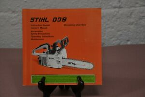 STIHL 009 Instruction & Owners Manual