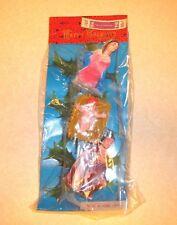 Vtg Christmas Plastic Nativity Ornaments Floral Picks Hong Kong New in Pkg 3 Pcs