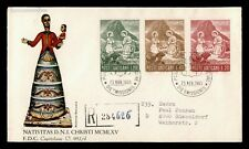 DR WHO 1965 VATICAN NATIVITY FDC REGISTERED C204023