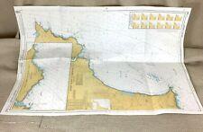 1985 Vintage Maritime Map Salcombe Start Point Dartmouth Brixham River Dart