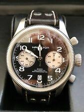 Da Uomo HAMILTON Cachi Field Pioneer Automatico Chrono Watch (faccia marrone E Cinturino)