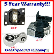 M104 Fits 2008-2011 Ford Focus 2.0L Engine Motor & Trans Mount Set 3pcs AT & MT
