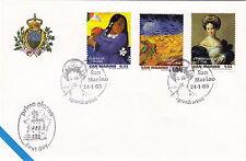 FIRST DAY COVER PITTORI VAN GOGH GAUGUIN ANNULLO SPECIALE SAN MARINO 2003