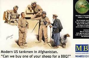 Masterbox Modern U.S.TANKMEN IN Afghanistan Tank Crew 1:3 5 Kit New Kit