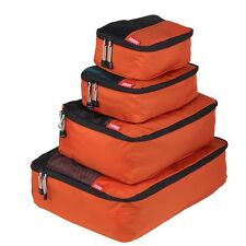 NEW Zoomlite Smart Packing Cube 4 pc Set (Rust) - Travel Luggage Organiser