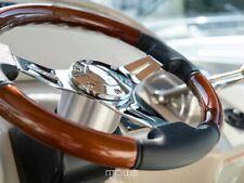 MÖWE Marine Wheel Palma Real Leather Black For Glastron Teleflex Ultraflex