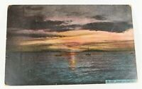 Vintage Sunset On Puget Town Early 1900s Rare Posted Postcard Collectible