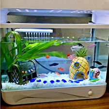 Artificial Pineapple House Sponge Bob Fish Tank Ornament Aquarium Decors Pip UK