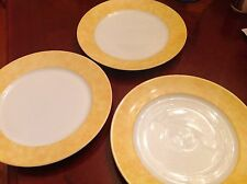CH FIELD HAVILAND PARLON LIMOGES Yellow EDITE PAR Dinner Plate Set of 3