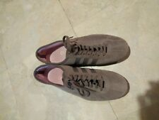 EUC Adidas Okapi gray genuine suede womens sneakers Sz 8