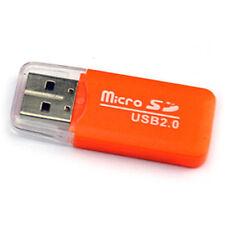 Lector de tarjetas, USB version 2.0 de alta velocidad, Orange, #119