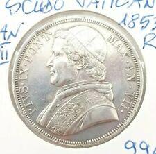 Moneda de Plata Scudo Vaticano 1853R Año Vii. (AD0467)