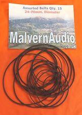 Set Nuovo di zecca di 16 cinghie di gomma quadrati sezione audio/cassette. 24-70mm. DIAM.
