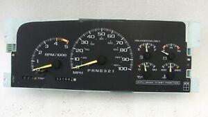 Chevy Silverado instrument cluster speedometer 95-99 331k Tahoe Sierra 1500 2500
