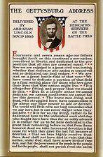 The Gettysburg Address by President Abraham Lincoln, Civil War - Modern Postcard