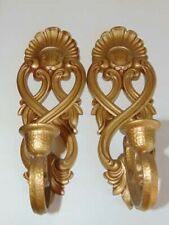 Pair Homco Candle Sconces