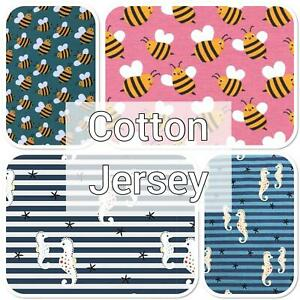 CHILDREN'S COTTON JERSEY FABRICS - Lots of designs, Jersey Fabric - by Metre