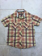 Boys short sleeve check shirt, age 4, from St George by Duffer