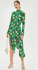 BNWT Topshop Green Floral Chuck On Midi Dress - UK 6