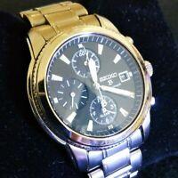 Seiko SEIKO Brights Chronograph 7T62-0BB0 Titanium Black Watch Mens From Japan