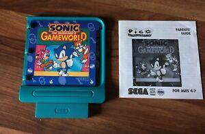 Sega Pico - Sonic The Hedgehog's Gameworld - Cartridge With Parents' Guide