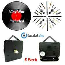 5 Pack 7'' & 12'' Vinyl Record Clock Making Kit Convert Your Records To Clocks