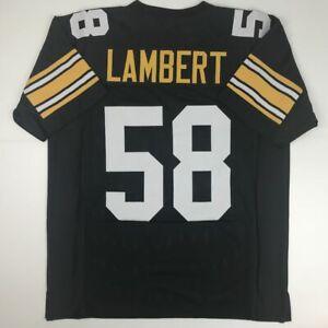 New JACK LAMBERT Pittsburgh Black Custom Stitched Football Jersey Size Men's XL
