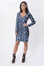 Polyester Geometric Dresses for Women with Sequins