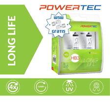 Powertec HB3 LongLife 4x längere Lebensdauer Halogen Lampen Duobox + W5W gratis
